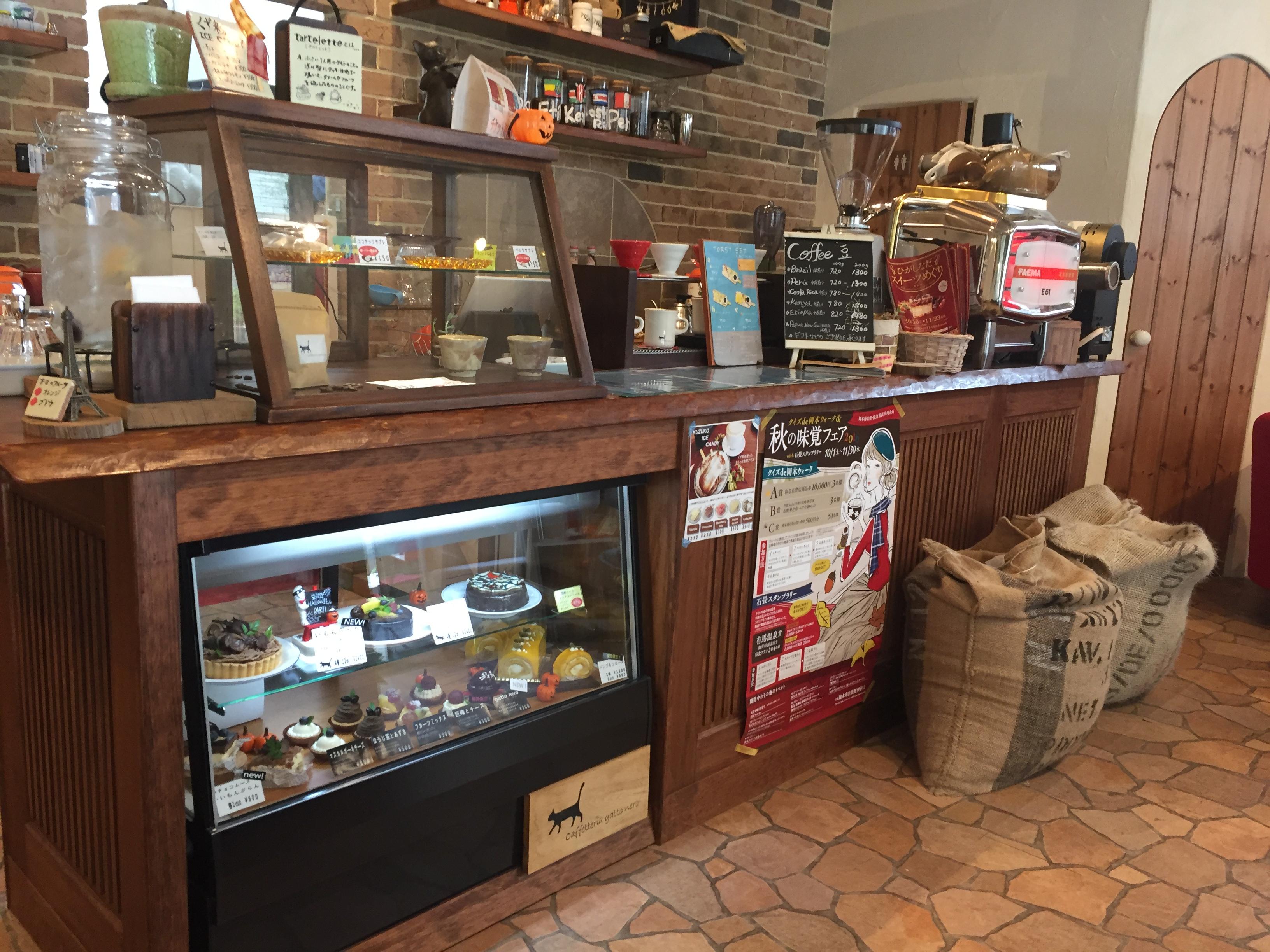 神戸・岡本 Caffetteria gatto nero(カフェテリア ガット ネロ)のおしゃれな店内でスイーツを楽しむ!【※リビング兵庫Webで紹介あり】