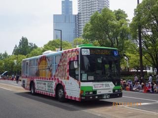 神戸市営交通100周年記念で「花バス」デザインラッピングバスが運行されるよ【告知】