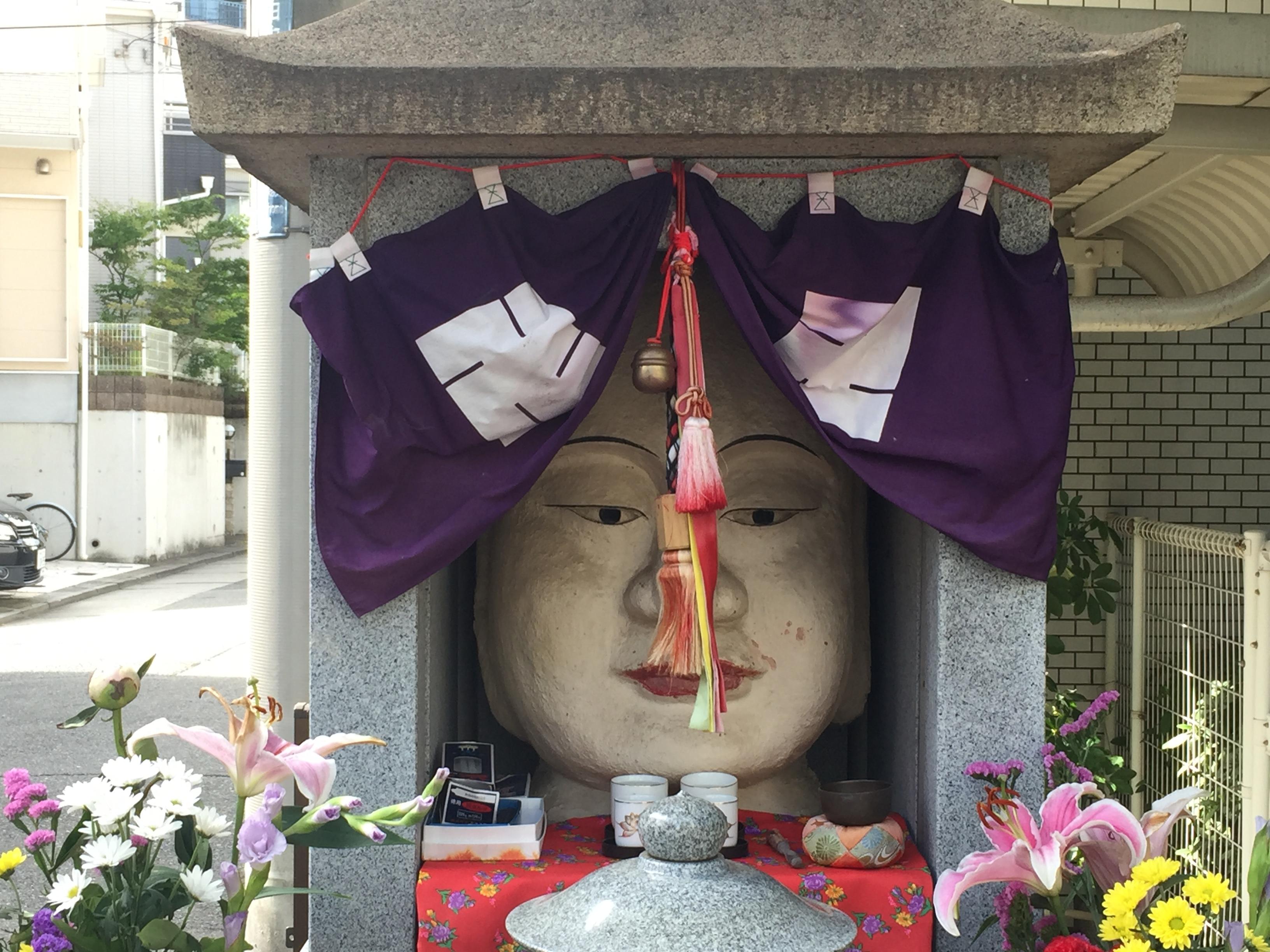 神戸・JR住吉東にある「くび地蔵」のインパクトにびっくり!【街散策レポ】