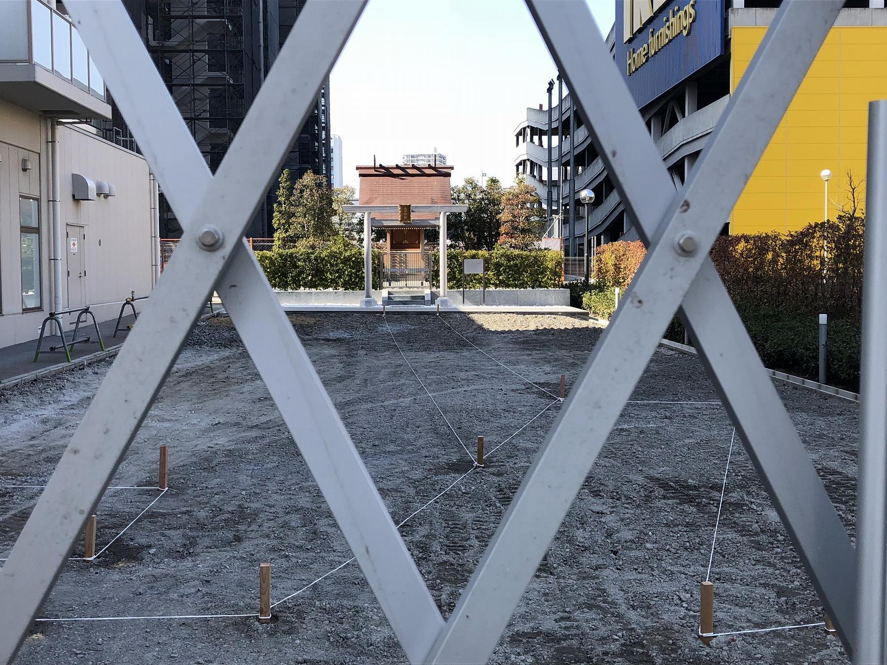 神戸・ポートアイランドに完成した「生田神社分社」前が工事中、遠くから眺めてきた! #生田神社分社 #ポートアイランド