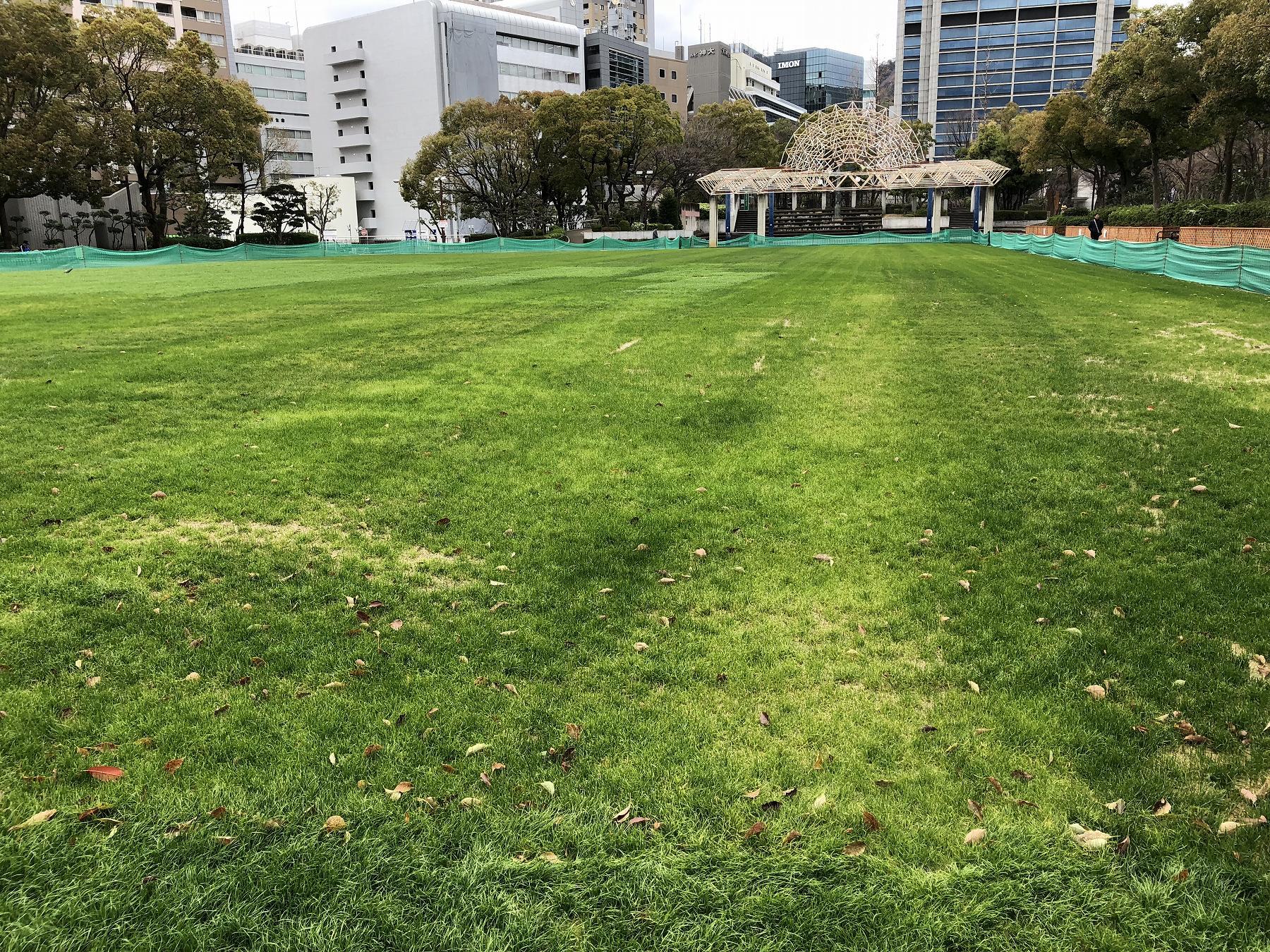 神戸・東遊園地の芝生スペース近くに、カフェなどの新たな拠点施設が誕生か!? #東遊園地 #神戸市