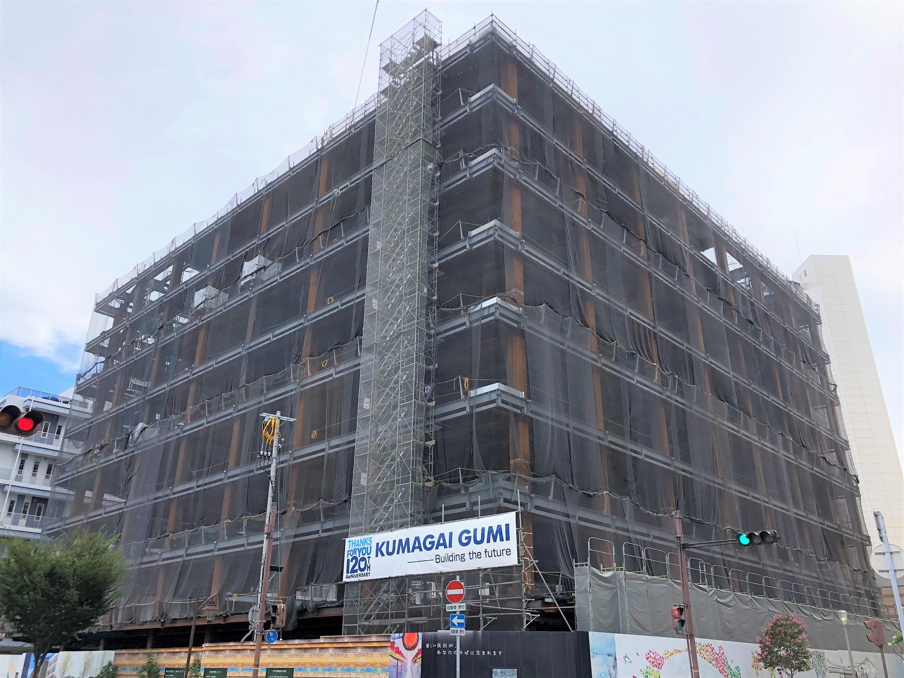 神戸・新長田合同庁舎が2019年6月完成予定!建設予定地では順調に工事が進んでいたよ! #新長田合同庁舎 #神戸市 #兵庫県 #新長田 #新規オープン