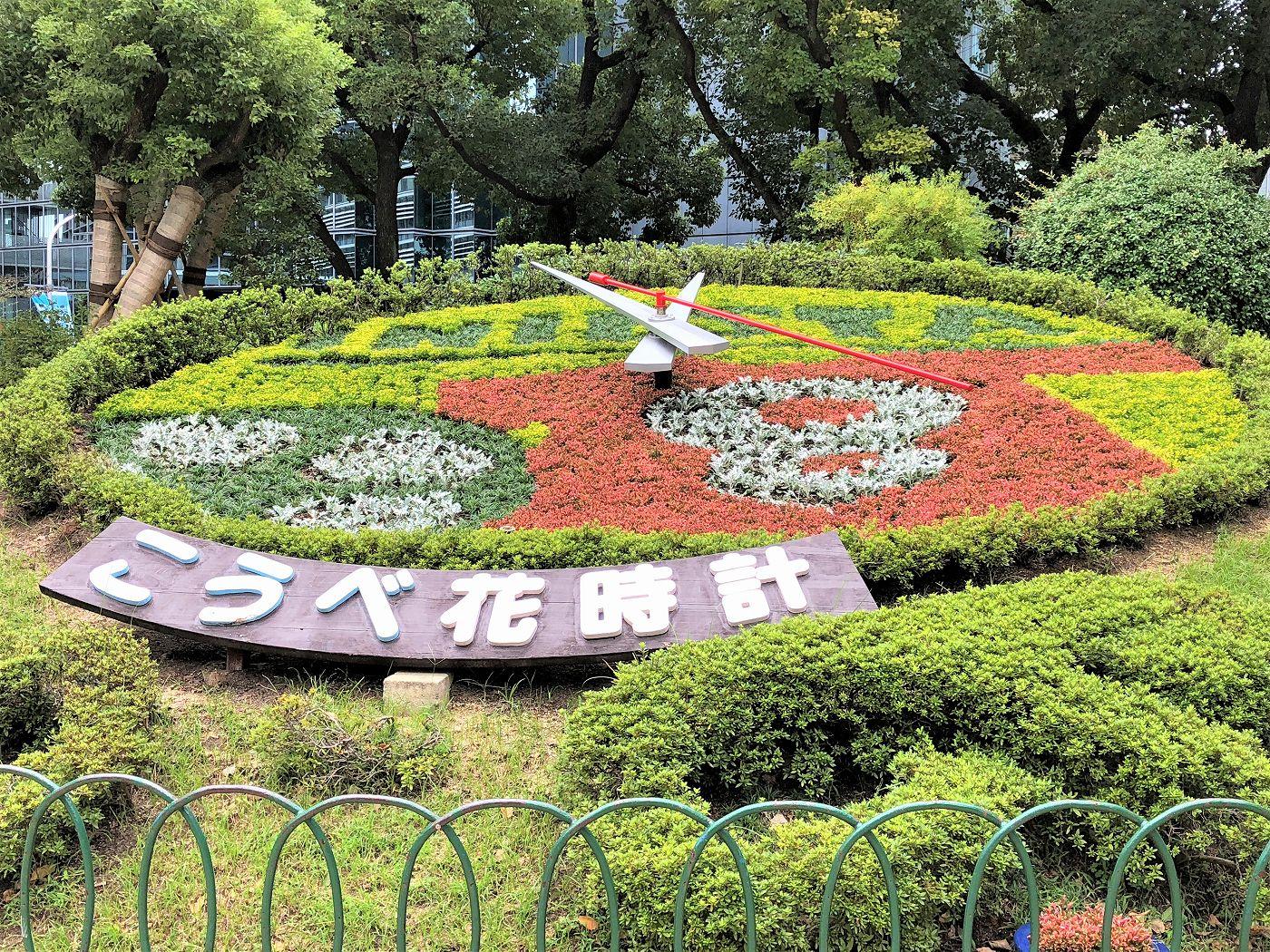 神戸市役所隣の「こうべ花時計」がイニエスタ選手を歓迎!本庁舎2・3号館の建替えで11月以降、撤去予定の模様。 #こうべ花時計 #イニエスタ #神戸市