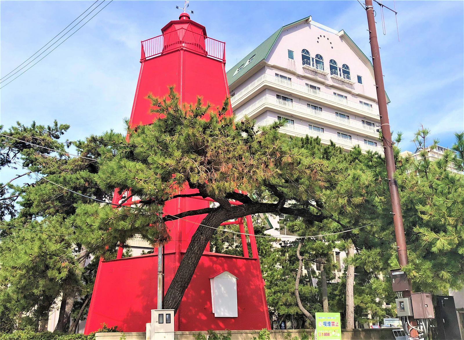 現存する日本最古の鉄造灯台!須磨の「旧和田岬灯台」を見に行ってきた! #旧和田岬灯台 #近代建築 #須磨の赤灯台 #須磨区 #登録有形文化財