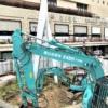 「三宮ターミナルビル」の撤去工事に伴い、噴水広場が閉鎖されたよ #三宮ターミナルビ
