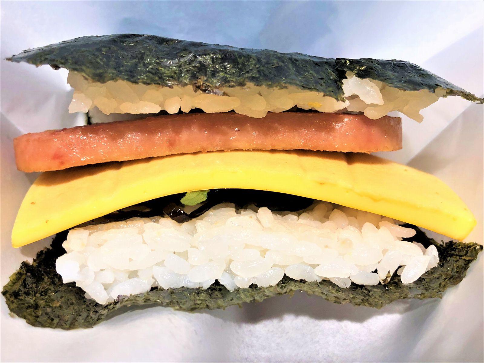 【期間限定出店】肉厚スパムがうまい「おにぎりバーガー」を食べてみた!阪神神戸三宮駅西口改札すぐ #おにぎりバーガー #インスタ映え #スパムむすび #神戸三宮 #ちちんぷいぷい
