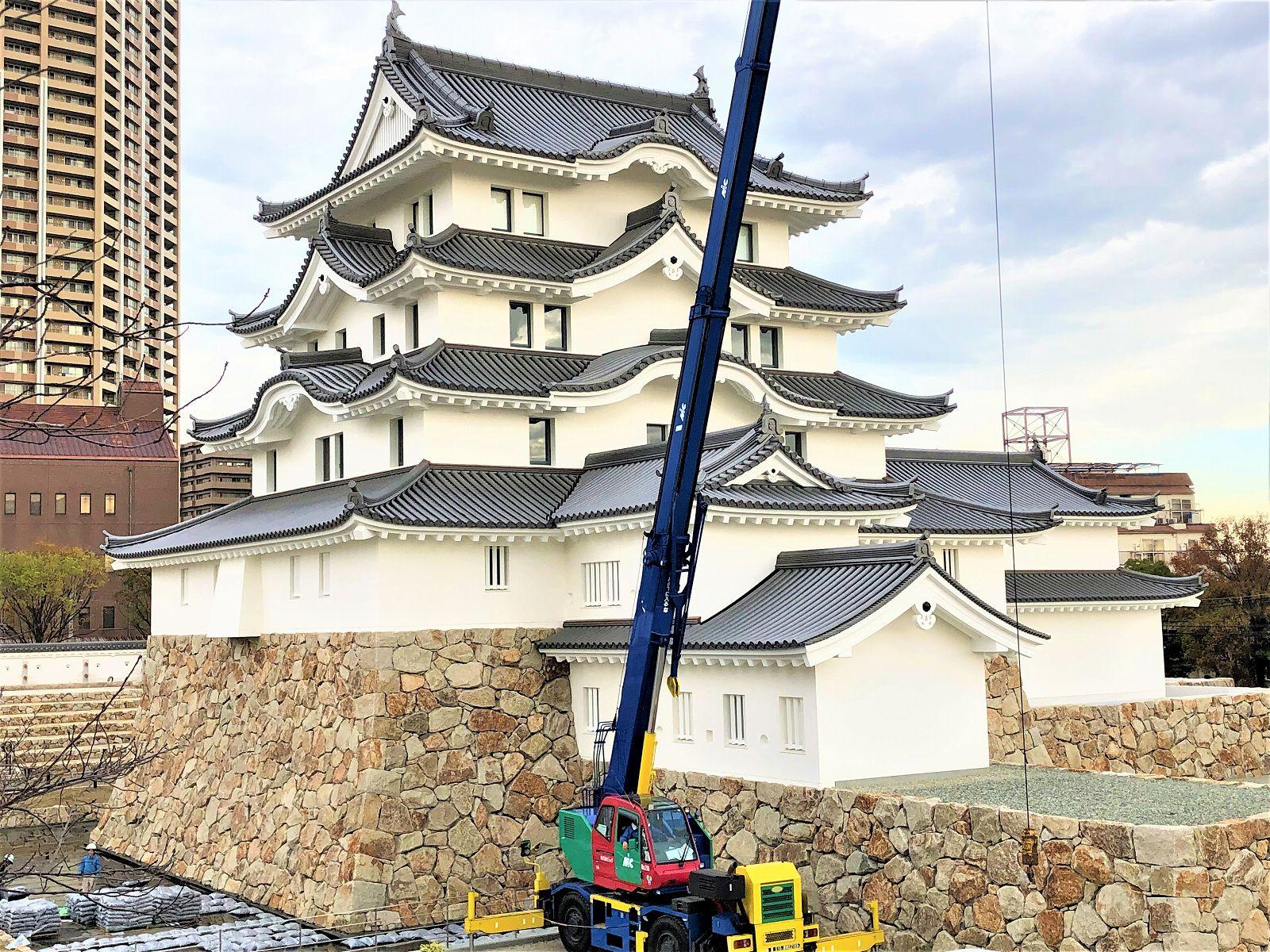 「尼崎城」が完成し、2019年3月29日(金)から一般公開スタート!その前に外観を見てきた! #尼崎城 #尼崎市 #旧ミドリ電化 #お城好き #歴史好き