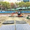 こうべ花時計、東遊園地内の噴水広場へ移転工事の様子を見てきた! #こうべ花時計 #神