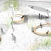 三宮駅前の「さんきたアモーレ広場」(通称:パイ山、デコボコ広場)新たなデザインが