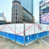 阪急神戸三宮駅北側の「さんきたアモーレ広場」(通称:パイ山、デコボコ広場)が工事